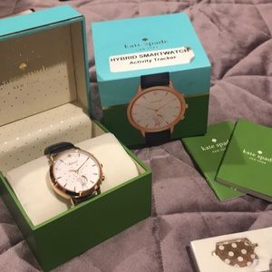 Kate spade leather band hybrid smart watch
